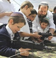 Settler kids with guns